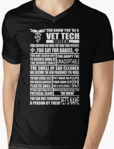 Vet Tech T Shirt vet tech sweatshirts vet tech travel mugs vet tech hu Mens V-Neck T-Shirt