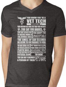 Vet Tech T Shirt vet tech sweatshirts vet tech travel mugs vet tech hu Mens V-Neck T-Shirt