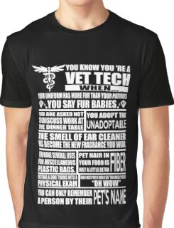 Vet Tech T Shirt vet tech sweatshirts vet tech travel mugs vet tech hu Graphic T-Shirt