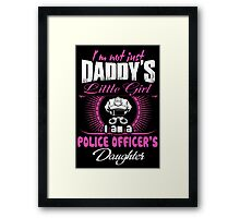 police officer onesies police officer dad Professional police officer  Framed Print