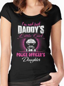 police officer onesies police officer dad Professional police officer  Women's Fitted Scoop T-Shirt