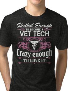 vet tech christmas vet tech bite me vet tech gifts Veterinary T Shirts Tri-blend T-Shirt
