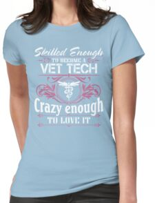 vet tech christmas vet tech bite me vet tech gifts Veterinary T Shirts Womens Fitted T-Shirt