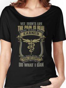 Vet T Shirts Funny vet tech superpower vet technician caduceus Veterin Women's Relaxed Fit T-Shirt