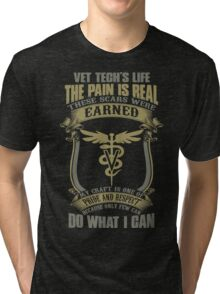 Vet T Shirts Funny vet tech superpower vet technician caduceus Veterin Tri-blend T-Shirt