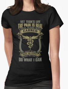 Vet T Shirts Funny vet tech superpower vet technician caduceus Veterin Womens Fitted T-Shirt