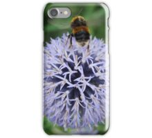Bee Departing Globe Thistle iPhone Case/Skin