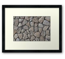 Background of stone wall texture Framed Print
