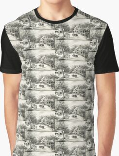 American homestead winter - Currier & Ives - 1868 Graphic T-Shirt