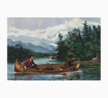 American hunting scenes - a good chance -  Currier & Ives - 1863 One Piece - Long Sleeve