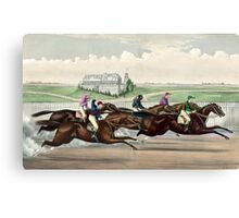 American Jockey Club Races - Jerome Park - Tom Bowling Winning - Currier & Ives - 1873 Canvas Print