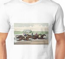 American Jockey Club Races - Jerome Park - Tom Bowling Winning - Currier & Ives - 1873 Unisex T-Shirt