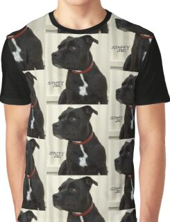 Staffy Dog Graphic T-Shirt