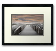 Beach Boardwalk Framed Print