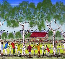 """""""Day at the Cricket""""    SOLD Original Acrylic Painting EJCairns  by EJCairns"""
