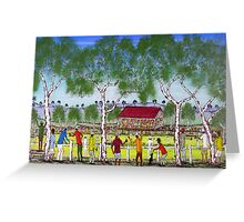 """Day at the Cricket""    SOLD Original Acrylic Painting EJCairns  Greeting Card"