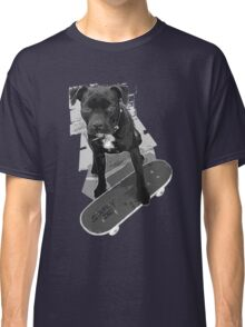 SK8 Staffy Dog black and white Classic T-Shirt