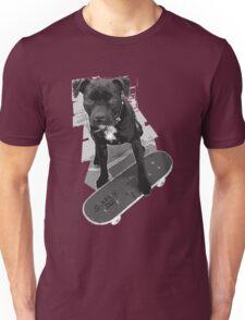 SK8 Staffy Dog black and white Unisex T-Shirt