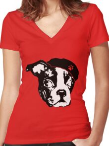 BOSTON REVOLUCION Women's Fitted V-Neck T-Shirt