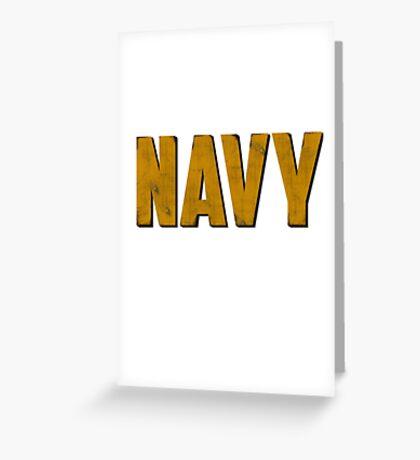 Navy Greeting Card
