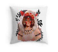 San- princess mononoke Throw Pillow