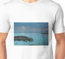 Tortoise shaped rock and Sunset by Sound of Jura Unisex T-Shirt