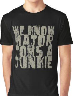 Major Tom khaki text Graphic T-Shirt