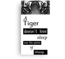 Tigers and Sheep Canvas Print