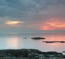 Sunset by the Sound of Jura by Maria Gaellman