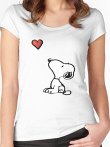 Snoopy Women's Fitted Scoop T-Shirt