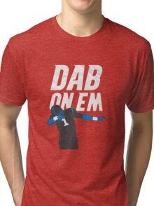 Dab On Em Carolina Panthers Tri-blend T-Shirt