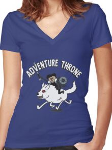 Adventure Throne Women's Fitted V-Neck T-Shirt