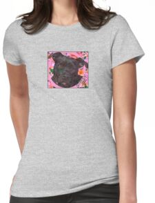 Staffy Dog Goes Floral! Womens Fitted T-Shirt