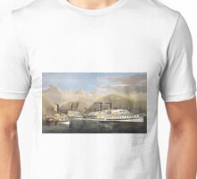 American steamboats on the Hudson - passing the highlands - Currier & Ives - 1874 Unisex T-Shirt