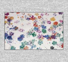 Paw Prints Art by Staffy Dog One Piece - Long Sleeve