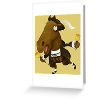 Weird Toy Colonial Horse Figure Greeting Card