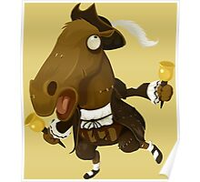 Weird Toy Colonial Horse Figure Poster
