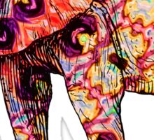 Hippy elephant Sticker