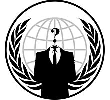 Anonymous logo without slogan Photographic Print