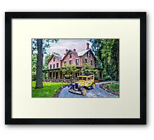 Rutherford B. Hayes Taxi Framed Print