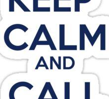 Keep Calm And Call Matt Smith Sticker