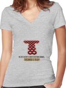 Torchwood - The 21st Century Is When Everything Changes... Women's Fitted V-Neck T-Shirt