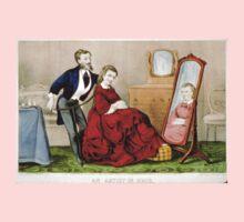 An artist in hair - Currier & Ives - 1871 Kids Tee