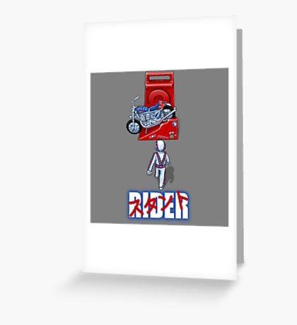 Stunt Rider Greeting Card