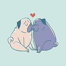 Pugs and Kisses by Huebucket