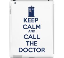 Keep Calm And call the doctor iPad Case/Skin