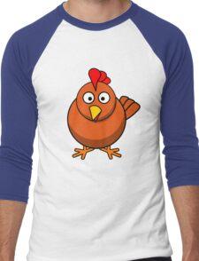 chicken Men's Baseball ¾ T-Shirt