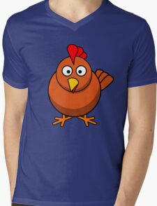 chicken Mens V-Neck T-Shirt