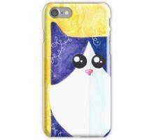 Black-white cat iPhone Case/Skin
