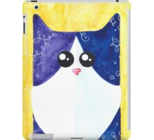 Black-white cat iPad Case/Skin